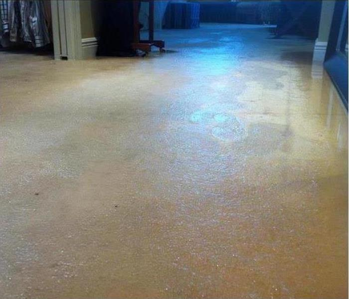 Residential Water Damage Before